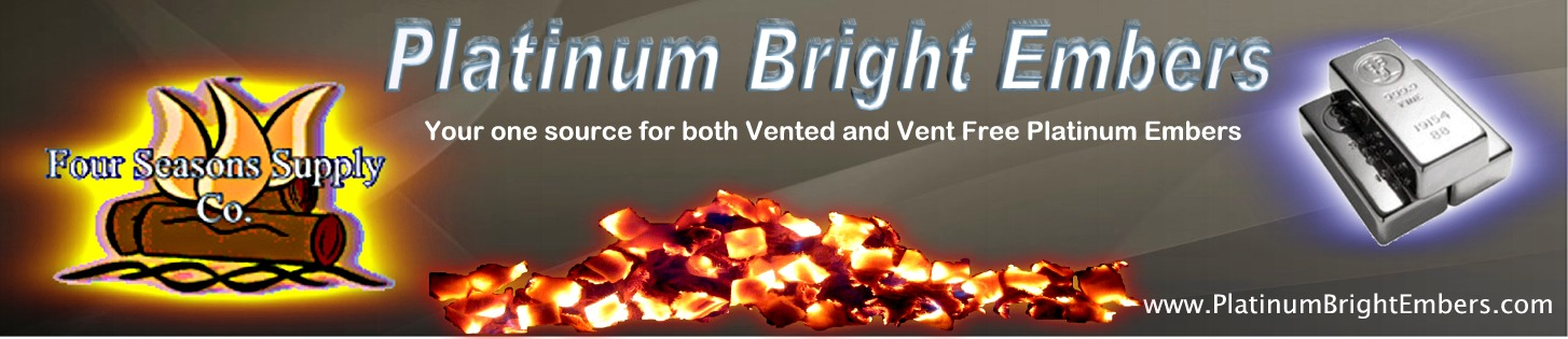 Platinum Embers for your fireplace and save. Add a brigth new look to your fireplace. Make it burn hotter and cleaner. Helps reduce dirty sooty fires.